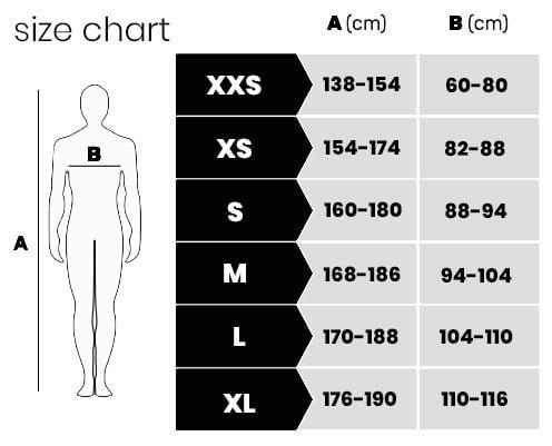 X-brave størrelsesguide