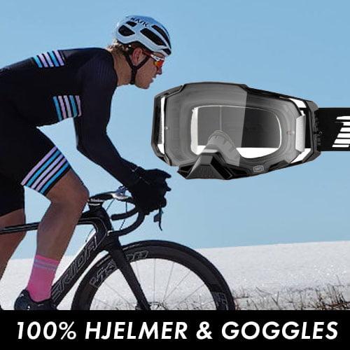 100% hjelmer og goggles