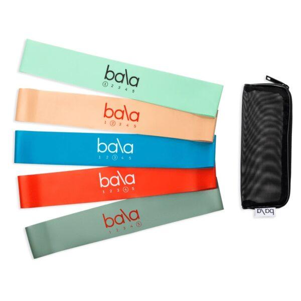 Bala bands i forskjellige farger og styrke, med mesh bærepose