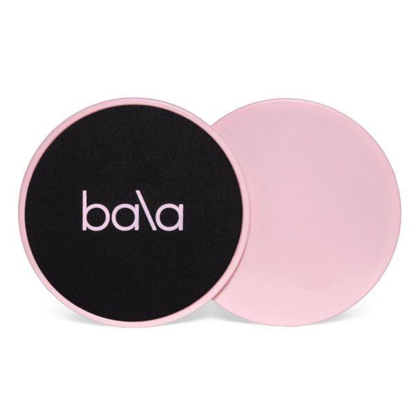 Bala sliders punch / rosa forside og bakside. Baksiden er helt rosa og forsiden er svart med rosa logo og kant
