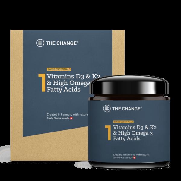 Vitamin D3,K2 og omega fettsyrer eske med Mironglass